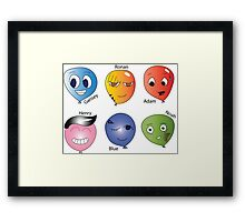 Raven Cycle Balloon Characters Framed Print