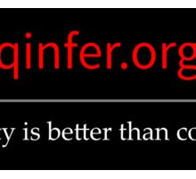 QInfer: Credibility is better than confidence. Sticker