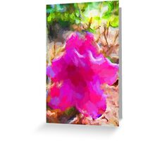 Pink and Lavender Flower Greeting Card