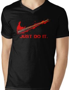 Negan - Just Do It Mens V-Neck T-Shirt