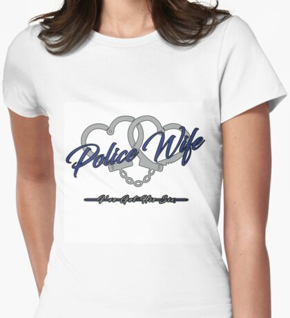 Police Wife Womens Fitted T-Shirt