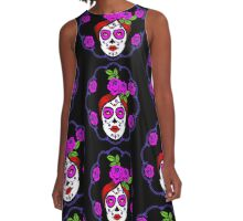 Day of the dead perfection A-Line Dress