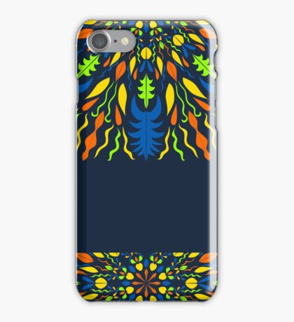 vector modern pattern with vivid elements on a dark background, hand draw, color doodle background iPhone Case/Skin