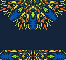 vector modern pattern with vivid elements on a dark background, hand draw, color doodle background by Ann-Julia