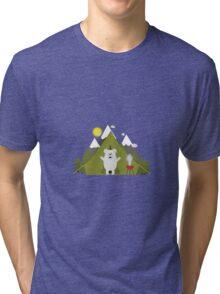 Polar Bear Camping Tri-blend T-Shirt
