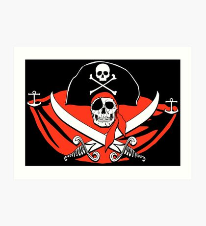 Pirates of the Caribbean Skull Art Print