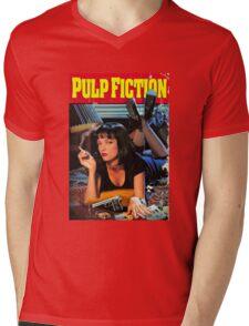 PULP FICTION Mens V-Neck T-Shirt