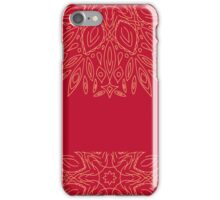 vector vintage ornament  on a pink background, hand draw, color doodle background iPhone Case/Skin