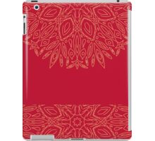 vector vintage ornament  on a pink background, hand draw, color doodle background iPad Case/Skin