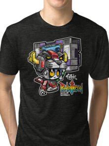 Pandatron: Bots -n- Boombox Tri-blend T-Shirt