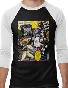 Tex Watt's  (UNCENSORED) SUNDAY COMIX POP-ART: Cover page  Men's Baseball ¾ T-Shirt