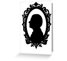 John Watson Silhouette  Greeting Card