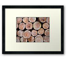 Logs #1 Framed Print