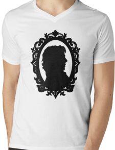 Sherlock Holmes Silhouette  Mens V-Neck T-Shirt