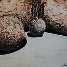 Boulder oil painting 1 by James Lewis Hamilton