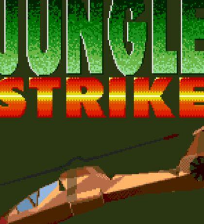 Jungle Strike (Genesis Title Screen) Sticker