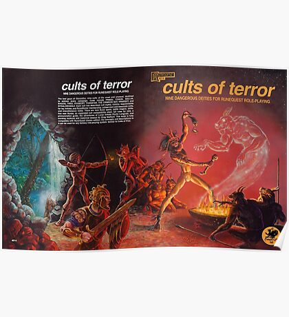 Cults of Terror - front & back cover Poster