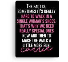 Single Woman's Shoes Canvas Print