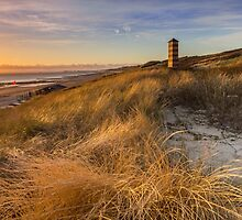 Lighthouse in the dunes by Natuuraandemuur