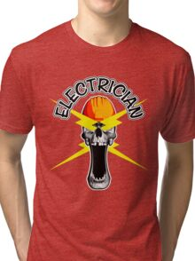 Skull Electrician Tri-blend T-Shirt