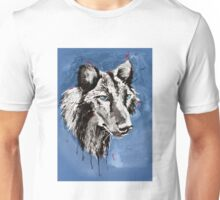Black Wolf - Animal Art by Valentina Miletic Unisex T-Shirt