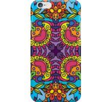 Psychedelic jungle kaleidoscope ornament 32 iPhone Case/Skin