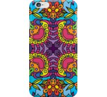 Psychedelic jungle kaleidoscope ornament 32 iPhone Case/Skin