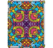 Psychedelic jungle kaleidoscope ornament 32 iPad Case/Skin