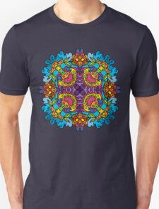 Psychedelic jungle kaleidoscope ornament 32 T-Shirt