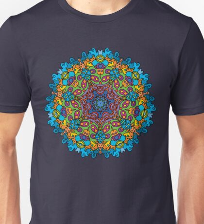 Psychedelic jungle kaleidoscope ornament 33 Unisex T-Shirt