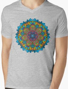 Psychedelic jungle kaleidoscope ornament 33 Mens V-Neck T-Shirt