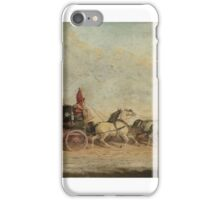 Follower of John Charles Maggs - The Bristol to London coach iPhone Case/Skin