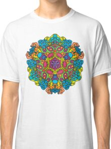 Psychedelic jungle kaleidoscope ornament 34 Classic T-Shirt