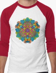 Psychedelic jungle kaleidoscope ornament 34 Men's Baseball ¾ T-Shirt