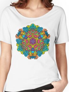 Psychedelic jungle kaleidoscope ornament 34 Women's Relaxed Fit T-Shirt