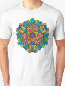Psychedelic jungle kaleidoscope ornament 34 Unisex T-Shirt