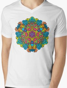 Psychedelic jungle kaleidoscope ornament 34 Mens V-Neck T-Shirt