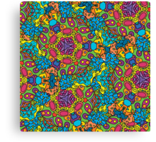 Psychedelic jungle kaleidoscope ornament 34 Canvas Print