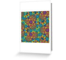 Psychedelic jungle kaleidoscope ornament 34 Greeting Card
