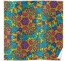Psychedelic jungle kaleidoscope ornament 34 Poster