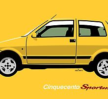 Fiat Cinquecento Sporting Yellow by car2oonz