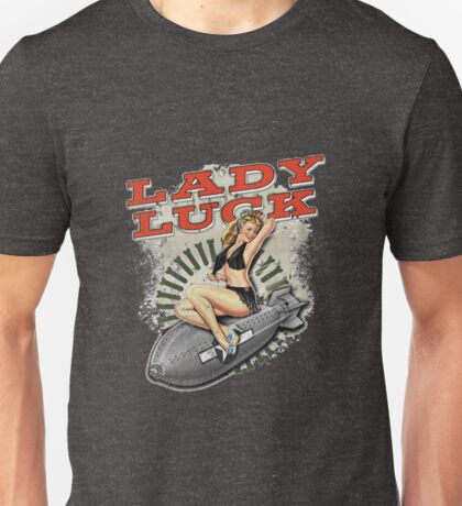 Lady Luck Nose Art Pin-up Unisex T-Shirt