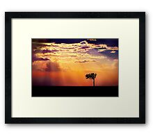 Sunset Over Masai Mara IV [Print & iPad Case] Framed Print