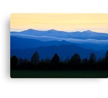 Mountains of Styria Canvas Print