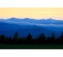 Mountains of Styria Photographic Print