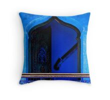 The Blue City III [Print & iPad Case] Throw Pillow