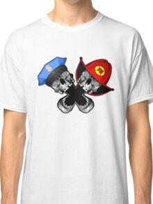 Police and Fire Skulls Classic T-Shirt