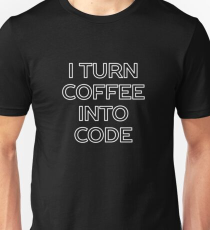 Funny Computer Science and Coffee Unisex T-Shirt