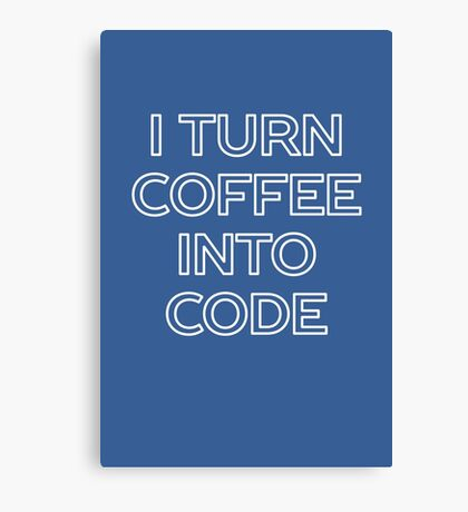 Funny Computer Science and Coffee Canvas Print