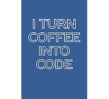 Funny Computer Science and Coffee Photographic Print